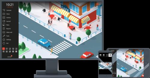 Eocortex is een professioneel video management software platform voor IP camera's