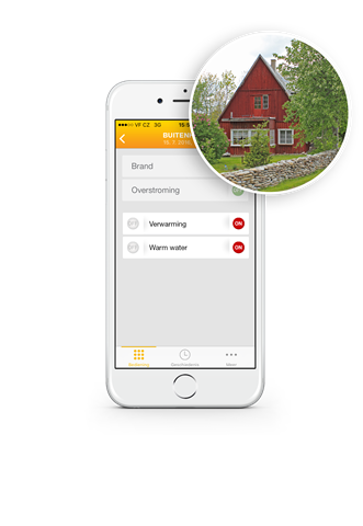 Draadloos alarmsysteem te bedienen via de app
